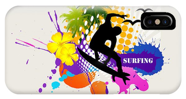 Purple iPhone Case - Surfing by Mark Ashkenazi