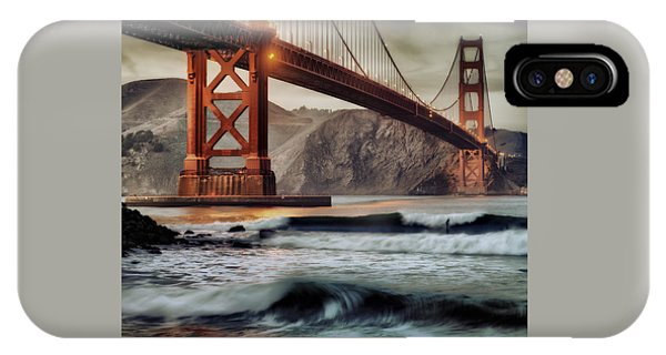 Surfing The Shadows Of The Golden Gate Bridge IPhone Case