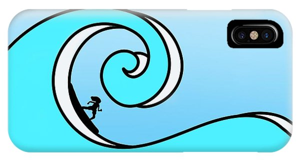Surfing The Wave IPhone Case