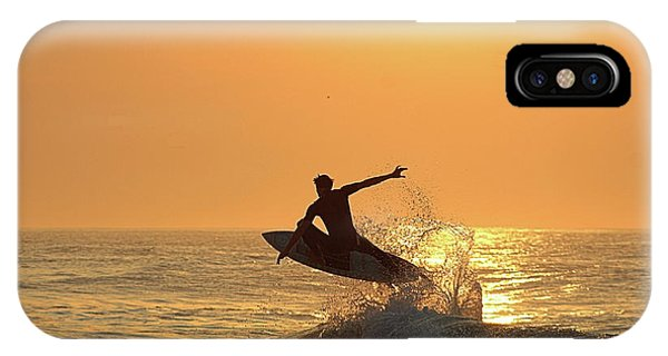 IPhone Case featuring the photograph Surfing To The Sky by Robert Banach