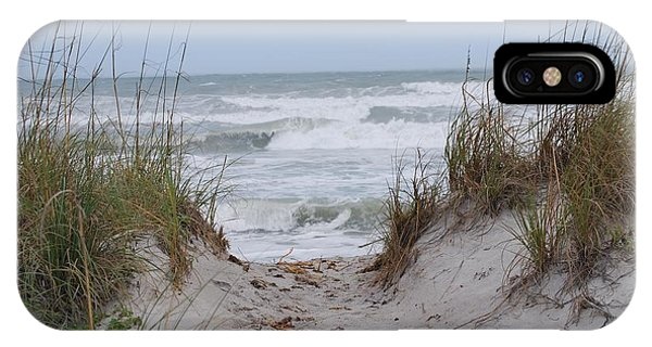 IPhone Case featuring the photograph Surf's Up by Judy Hall-Folde
