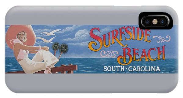 Surfside Beach Sign IPhone Case