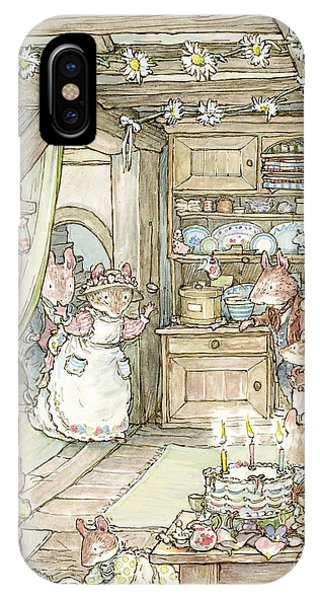 Ceremony iPhone Case - Surprise At Mayblossom Cottage by Brambly Hedge