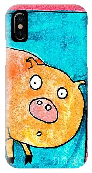 Surprised Pig IPhone Case