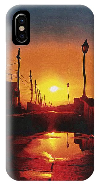 Surreal Cityscape Sunset IPhone Case