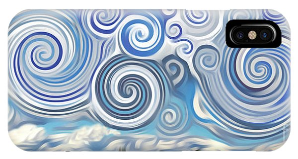 Surreal Cloud Blue IPhone Case