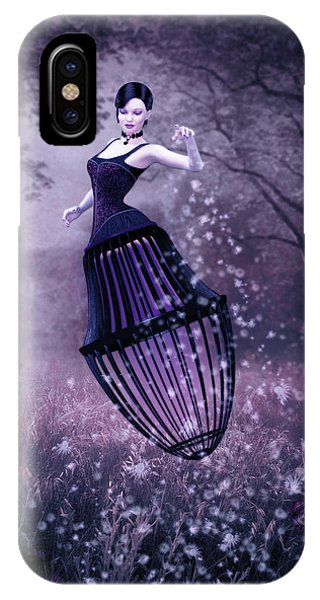 Fairy iPhone Case - Surreal Fairy And Her Magic Seed  by Britta Glodde