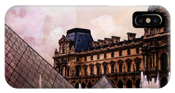 The Louvre iPhone Case - Surreal Louvre Museum Pyramid Watercolor Paintings - Paris Louvre Museum Art by Kathy Fornal