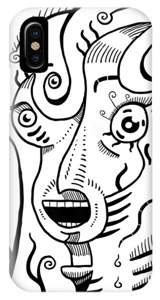 Surrealism Scream Black And White IPhone Case