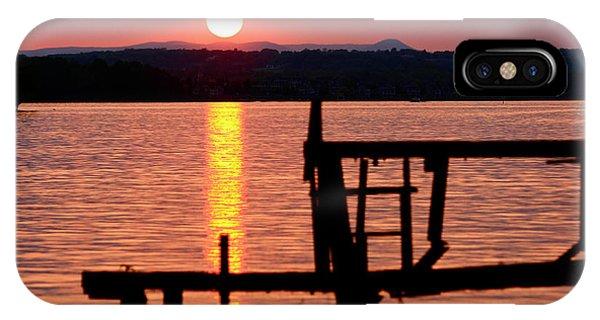 Surreal Smith Mountain Lake Dockside Sunset 2 IPhone Case
