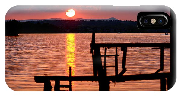 Surreal Smith Mountain Lake Dockside Sunset 2 IPhone Case