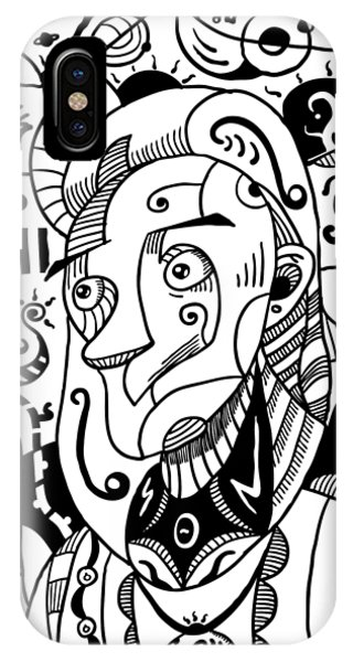 Surrealism Philosopher Black And White IPhone Case