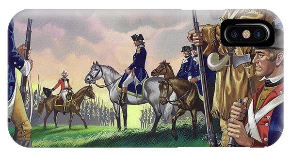 Yorktown iPhone Case - Surrender By General Cornwallis To The American Commander At Yorktown, Va 1781 by Ron Embleton