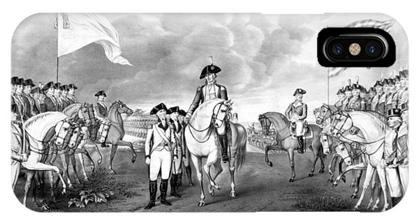 George Washington iPhone Case - Surrender Of Lord Cornwallis At Yorktown by War Is Hell Store