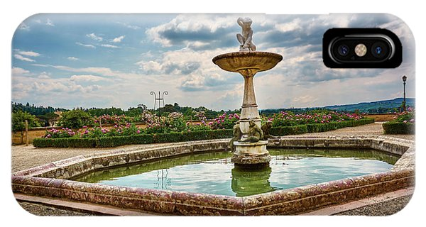 The Monkeys Fountain At The Gardens Of The Knight In Florence, Italy IPhone Case