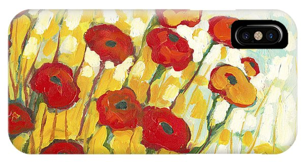 Poppies iPhone Case - Surrounded In Gold by Jennifer Lommers