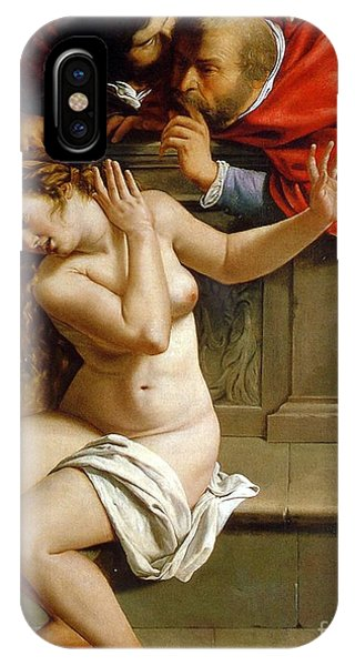 Lust iPhone Case - Susannah And The Elders by Artemisia Gentileschi