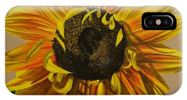 Hyper Realism iPhone Case - Susanna's Sunflower by Amelia Emery
