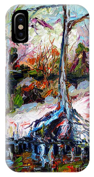 Suwanee River Black Waters Modern Art IPhone Case