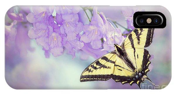 Swallowtail On Purple Flowers IPhone Case