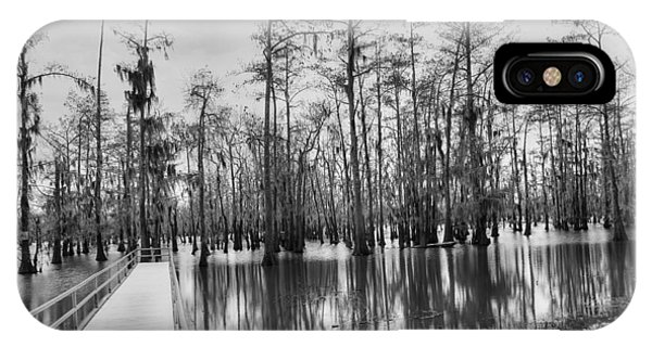 Swamp Dock Black And White IPhone Case