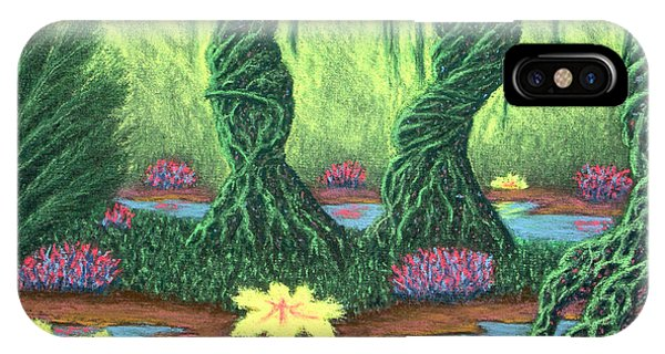 Swamp Things 02, Diptych Panel A IPhone Case