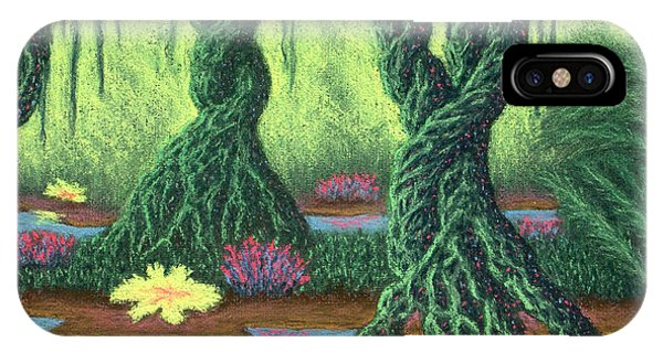 Swamp Things 02, Diptych Panel B IPhone Case