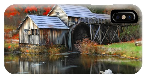 Swan At Mabry Mill IPhone Case