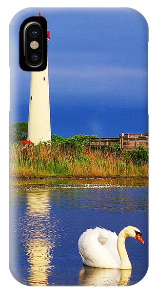 Swan At The Lighthouse IPhone Case
