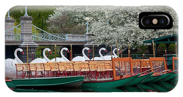 Swan Boat Spring IPhone Case
