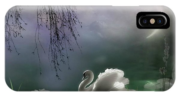 Swan By Moonlight IPhone Case