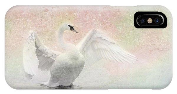 Swan Dream - Display Spring Pastel Colors IPhone Case