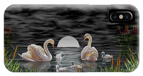 Swan Family IPhone Case