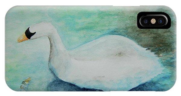 Swan Flight IPhone Case