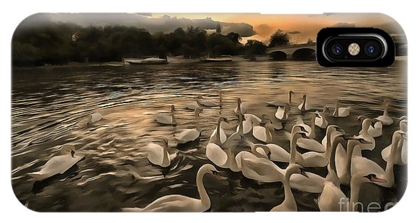 Swan Gloaming Kingston U K IPhone Case