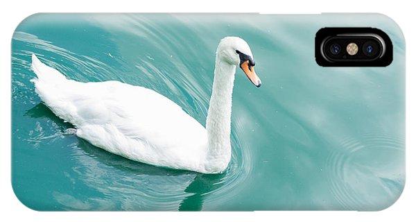 Teal Swan iPhone Case - Swan In Aqua by Amanda Owens