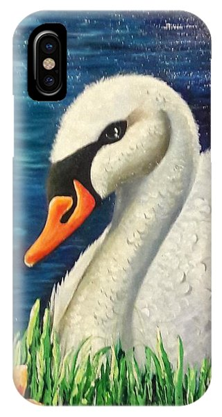 Swan In Pond IPhone Case