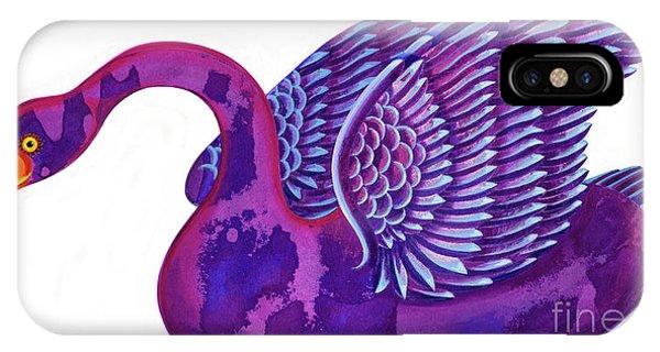 Wild Violet iPhone Case - Swan by Jane Tattersfield