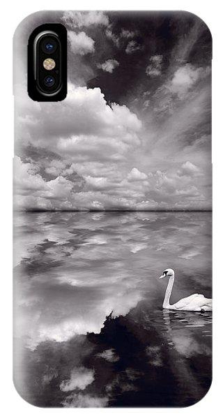 Swan Lake Explorations B W IPhone Case