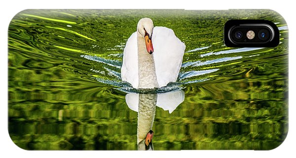 Swan Lake Nature Photo 892 IPhone Case