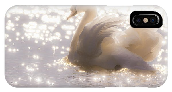 Swan Of The Glittery Early Evening IPhone Case