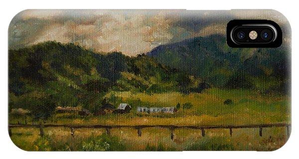Swan Valley Hillside IPhone Case