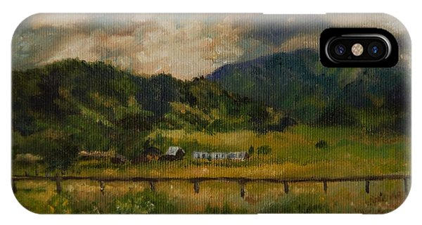 Swan Valley Hillside IPhone Case