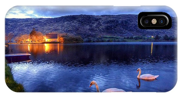Swans At Gougane Barra IPhone Case