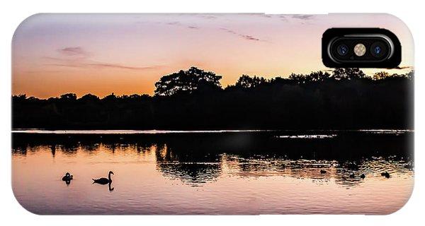 Swans At Sunrise IPhone Case