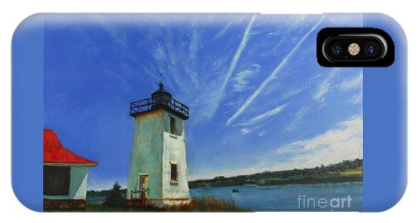 Swans Island Lighthouse IPhone Case