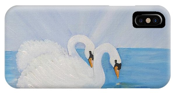 Swans On Open Water IPhone Case