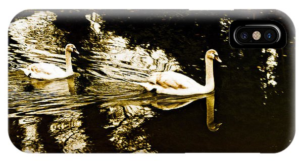 Swans On River Wey IPhone Case