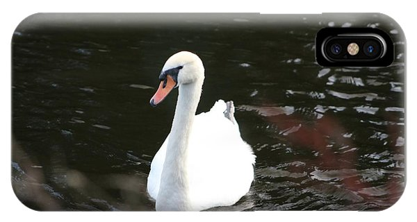 Swans-a-swimming IPhone Case