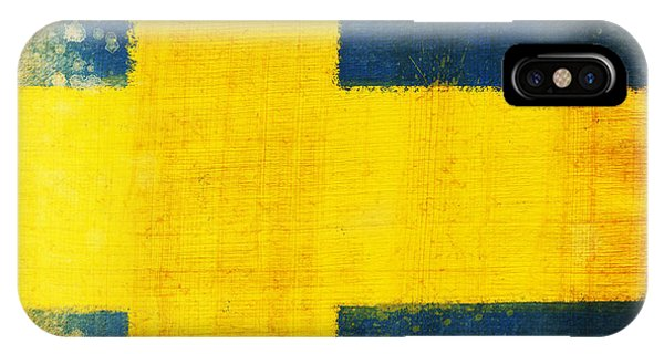 Patriotic iPhone Case - Swedish Flag by Setsiri Silapasuwanchai